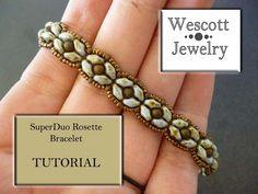 Pattern for SuperDuo Rosette Bracelet