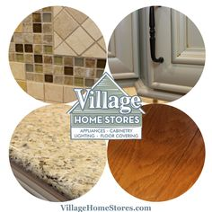 Color and material inspiration from a #kitchen by Village Home Stores in a #painted and #glazed cabinet with light granite countertops.   |   villagehomestores.com