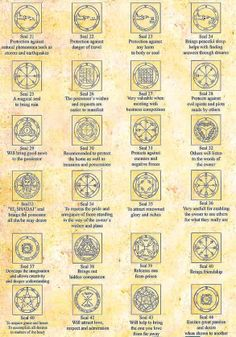 The 44 King Solomon Seals from Israel Alchemy, Witchcraft, Magick, wicca. occult, pagan interest.