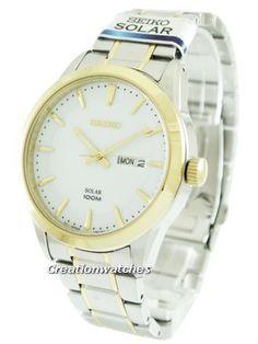 Seiko Solar SNE364P1 SNE364P Men's Watch Seiko Solar, Seiko Watches, Watches For Men, Bracelet Watch, Accessories, Men's Watches, Jewelry Accessories