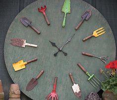 garden tool clock