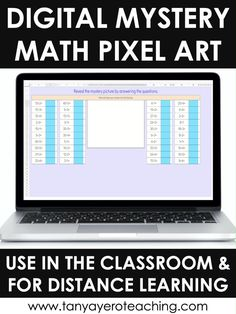 Digital Math Pixel Arts are the perfect 3rd grade math review activity! These interactive activities are ready to go for Google Excel that review a specific math skill. As your students correctly answer questions a mystery picture will start to reveal. Auto-grading math activities will make your life easier! Use these digital elementary activities for in person teaching and/or distance learning. This digital pixel activity reviews division facts from 6-10.