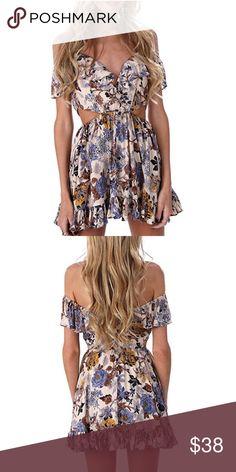 Gorgeous Floral Cold Off Shoulder Dress❤️ Gorgeous Floral Cold Off Shoulder Dress❤️ Dresses