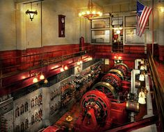 Steampunk - The Engine Room 1974 Photograph by Mike Savad