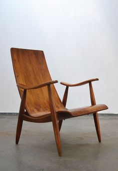 Anonymous; Teak Lounge Chair, 1950s. #Loungechairs