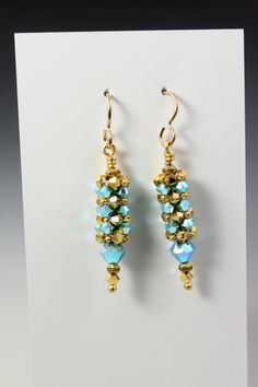MadDesigns: Easy Peasy Crystal Earrings - directions are on the blog