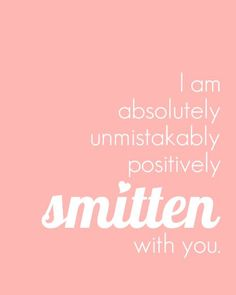 Nursery Art Print Smitten With You Love Quote by PaperPlanePrints