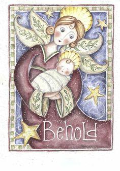 Jesus Nativity ~ Behold Angel by Shelly Rasche
