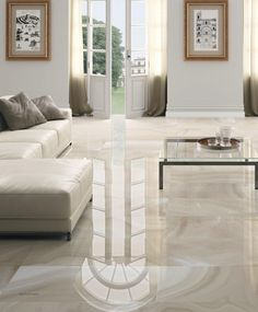 Floor Tile / Porcelain Stoneware / High Gloss / Stone Look HIGH GLOSS :  ABSOLUTE