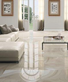 Floor tile / porcelain stoneware / high-gloss / stone look HIGH GLOSS : ABSOLUTE Ceracasa Ceramica