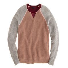 Collection cashmere colorblock waffle sweater | Jcrew  I bought this sweater. Love it!