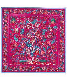 Liberty London Pink Tree of Life Silk Scarf | Silk Scarves by Liberty London | Liberty.co.uk
