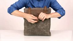 Field Tote by WaterField Designs | Video demo via @YouTube | https://www.sfbags.com/products/field-tote