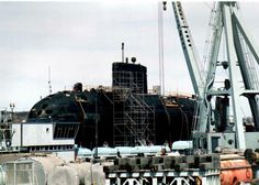 HMCS Victoria on the synchrolift at Halifax,Nova Scotia a few years back before her transition to the west coast. Dream City, My Dream, Dartmouth Nova Scotia, Submarines, Marina Bay Sands, West Coast, Over The Years, Trail, Victoria