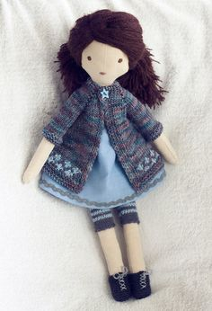 Tiffany  dressable cloth doll by TangledThings on Etsy, $75.00