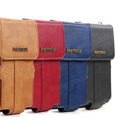Remax Pedestrian Series Leather Pouch Wallet Bag For iPhone Cellphone Sale - Banggood.com