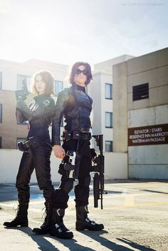 Black Widow and Winter Soldier cosplay. Marvel Halloween Costumes, Halloween Cosplay, Cool Costumes, Superhero Halloween, Cosplay Costumes, Costume Ideas, Epic Cosplay, Marvel Cosplay, Amazing Cosplay