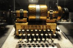 Cryptography machines are always intriguing.