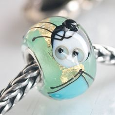 GlassBonBon Lampwork Glass Beads BHB fits all european charm bracelets