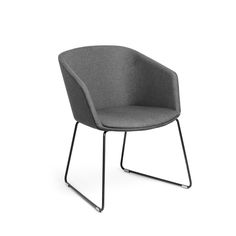 Dark Gray Pitch Sled Chair,Dark Gray