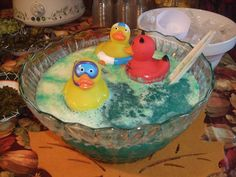 Halloween Bath Tub Punch at the baby shower