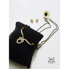 Gold Plated Mangalsutra with CZ stones - Online Shopping for Jewellery Sets by Glittering Galaxy
