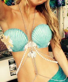 Image of Blue Seashell Bra