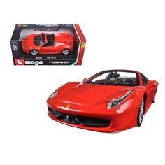 New 1/24 Diecast Model Cars Ferrari 458 Spider Red Car Collection Gift 1:24 #Bburago