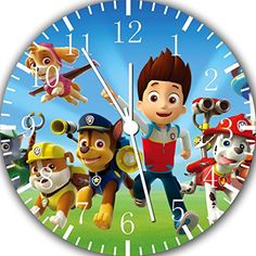 Borderless PAW Patrol Frameless Wall Clock Nice for Decor Or Gifts Paw Patrol Toys, Paw Patrol Party, Paw Patrol Bedroom, Paw Patrol Decorations, Halloween Disfraces, Room Wall Decor, Girl Room, Playroom, Best Gifts