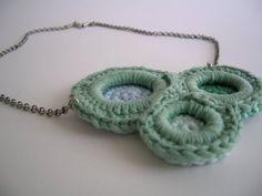 Ganchibearte: Colgante y Pulsera a Crochet con Arandelas