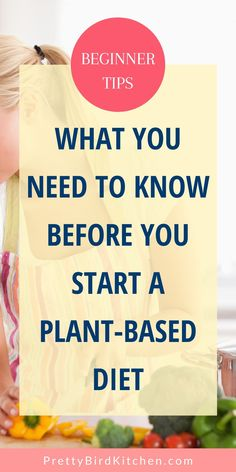 Here's how to start a plant-based diet the right way! If you're a beginner, then these tips will give you the best chance for success and explain everything you need to know before you start a plant-based lifestyle. Plant Based Diet Meals, Plant Based Meal Planning, Plant Based Eating, Plant Based Recipes, Health And Wellness, Health Tips, Gut Health, Whole Food Recipes, Diet Recipes