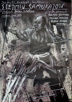 Shichinin no samurai / The Seven Samurai / 7 Samurajów by Kurosawa | Polish Movie Poster, designer Andrzej Pągowski year: 1987