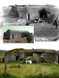 Utah Beach , Dunes-de-Varreville Wn 9 Casemate R633 pour mortier de 5 cm M19  R633 bunker mortar 5cm M19 the bottom one is of the H634 at Wn 12