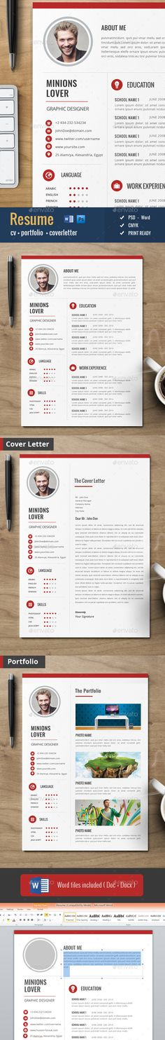 Clean Cv / Resume Template PSD #design Download:…