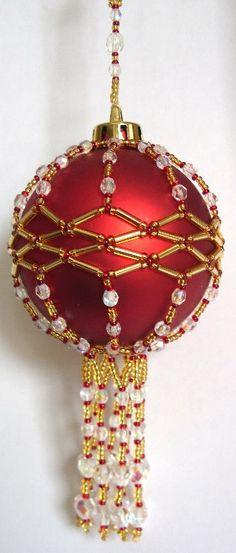 Free Beaded Christmas Ornament Covers | X095 Bead PATTERN ONLY Beaded Elizabeth Christmas by BeadedBundles
