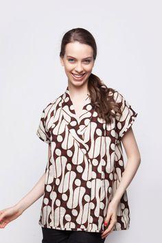Kimono Loose Blouse Lengan Pendek