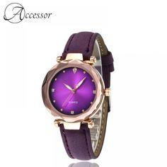 Purple Diamond Quartz Watch  Price: 27.99 & FREE Shipping Purple Diamond, Diamond Quartz, Bold Colors, Quartz Watch, Free Delivery, Free Shipping, Watches, Elegant, Accessories
