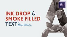 Ink Drop/Smoke Reveal Text | After Effects Tutorial