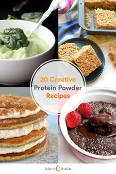 Ready to take a break from the blender? These unexpected protein powder recipes — including pizza, fudge and pancakes — will hit the spot.   via @dailyburn