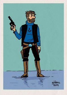 Captain Haddock as Han Solo // incredible