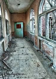 """Abandoned Manteno State Hospital, Manteno, Illinois. In 1964 hydrotherapy which consisted of dunking the patient in and out of ice cold water.  Treatment also included Lobotomies.  Horrendous experiments were conducted on the patients at Manteno, without their knowledge of consent.  In 1939, a terrible typhoid fever epidemic broke out at Manteno from July to December.  Time Magazine called this incident the """"Manteno Madness""""."""