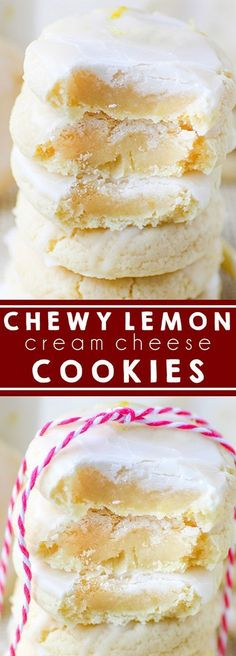 The BEST Lemon Cream Cheese Cookies. These Lemon cookies are chewy with a rich a… The BEST Lemon Cream Cheese Cookies. These Lemon cookies are chewy with a rich and soft center. Brownie Desserts, Easy Desserts, Delicious Desserts, Easy Cream Cheese Desserts, Easy Cream Cheese Frosting, Healthy Lemon Desserts, Recipes With Cream Cheese, Cream Cheese Snacks, Apple Desserts