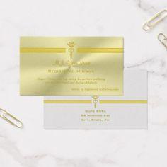 Nurse nurse metallic look design with golden caduceus padfolio registered midwife with golden caduceus logo business card reheart Gallery