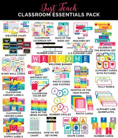 Just Teach Rainbow Pack Full Collection Just Teach Rainbow Pack Full Collection Just Teach Rainbow Pack Full Collection Classroom Setting, Classroom Setup, Classroom Design, Kindergarten Classroom, Classroom Organization, Classroom Management, Future Classroom, Classroom Decor Primary, Daycare Setup