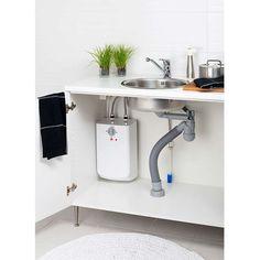 Oras Safira kitchen faucet with a warm water heater for asummer house kitchen Hanging Canvas, Work Surface, Modern Kitchen Design, Oras, Hana, Home Kitchens, Cabinet, Storage, House