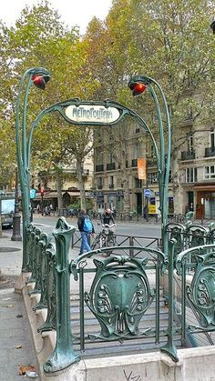 Michel metro entrance, Paris, and other great photos of France! Beautiful Paris, I Love Paris, Paris Travel, France Travel, Tour Eiffel, Paris France, Places Around The World, Around The Worlds, Hector Guimard