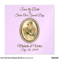 Save the Date Antique Bride Magnetic Card 15% off