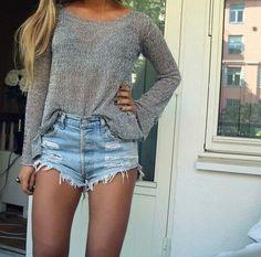 ☆@KCHARM96☆ High waisted jean shorts