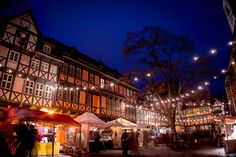 """Little Christmas Market - One of the beautiful Christmas Markets durinf the """"Advent in den Höfen""""; Quedlinburg."""