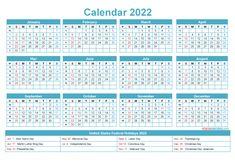 2018 Yearly Calendar, Create A Calendar, Holiday Calendar, Free Calendar, Calendar Pages, Fillable Calendar, Printable Calendar Template, W 6, Federal